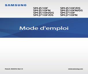 Samsung Galaxy J5 SM-J510FN/DS manuels