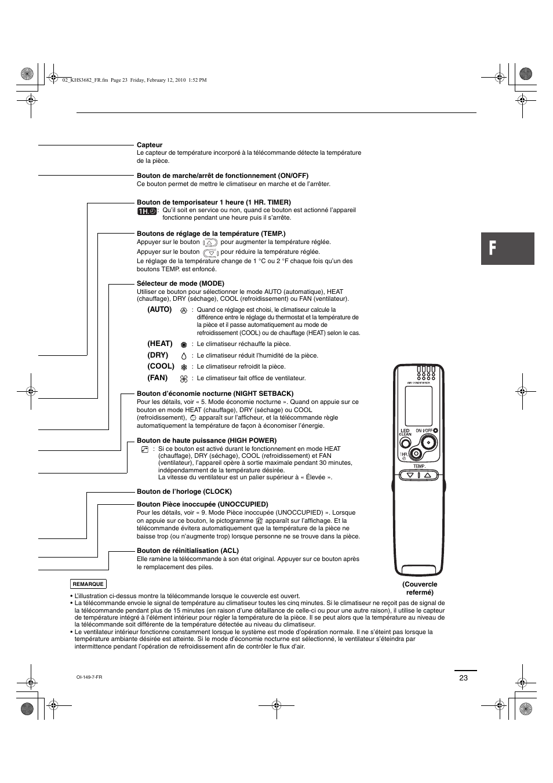 Sanyo cool dry heat khs3682 manuel d 39 utilisation page 23 36 aussi p - Telecommande clim samsung ...