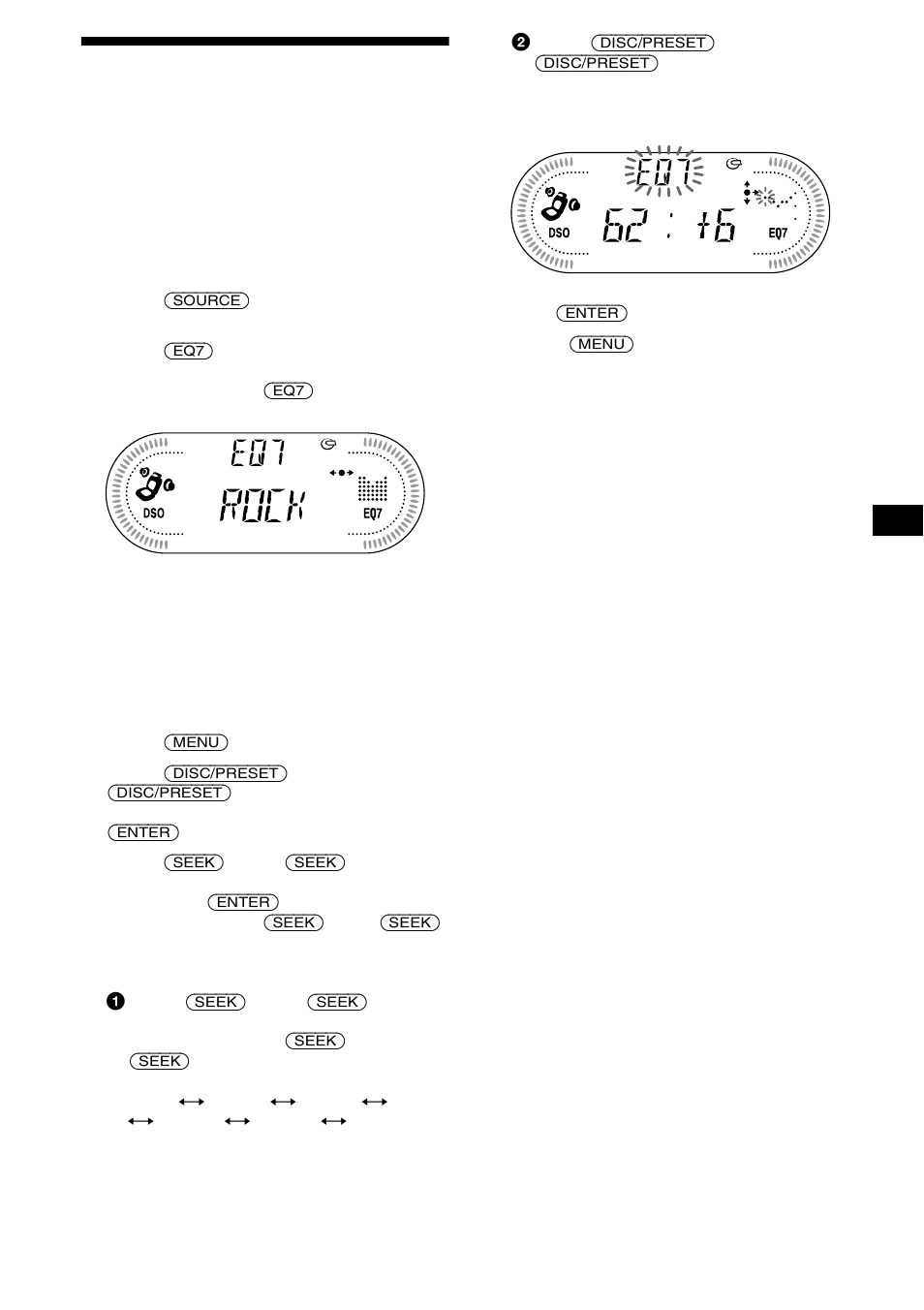 Setting the equalizer (eq7), 19 setting the equalizer (eq7) | Sony