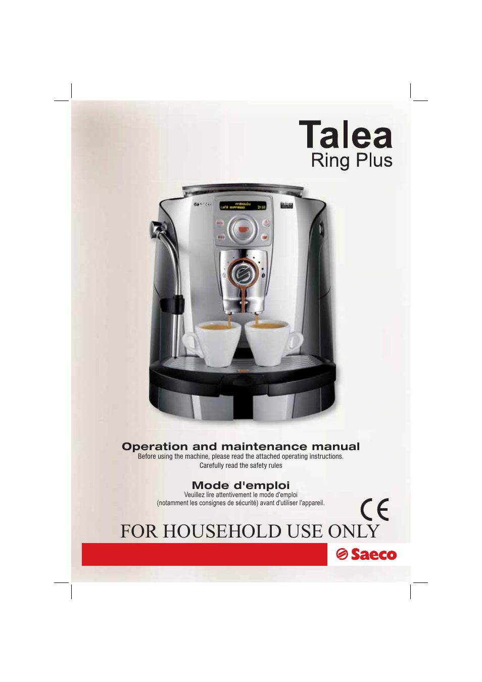 saeco talea ring plus manual
