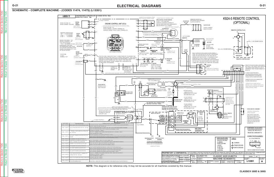 Lincoln Classic 300d Wiring Diagram