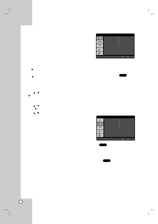 Initial settings, General operation, Language | LG DV8931H
