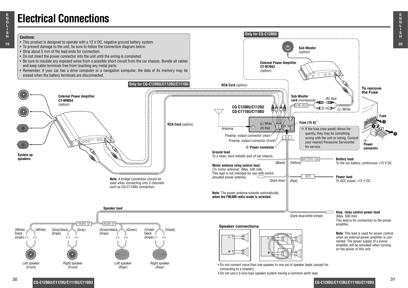panasonic cq c1200u page16 electrical connections panasonic cq c1200u manuel d'utilisation panasonic cq c1100u wiring diagram at edmiracle.co