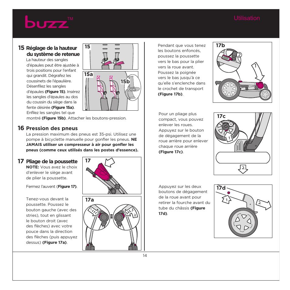 quinny buzz cv059 manuel d u0026 39 utilisation