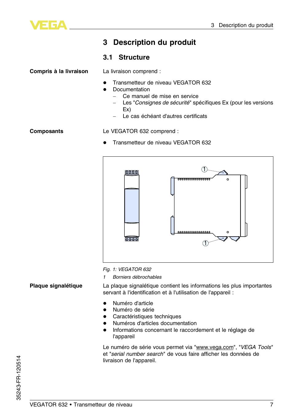 3 description du produit, 1 structure, 3description du