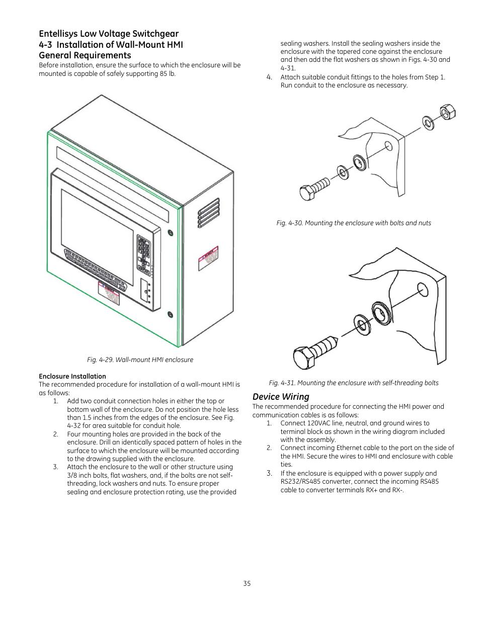 Entellisys low voltage switchgear, Device wiring | GE ... on