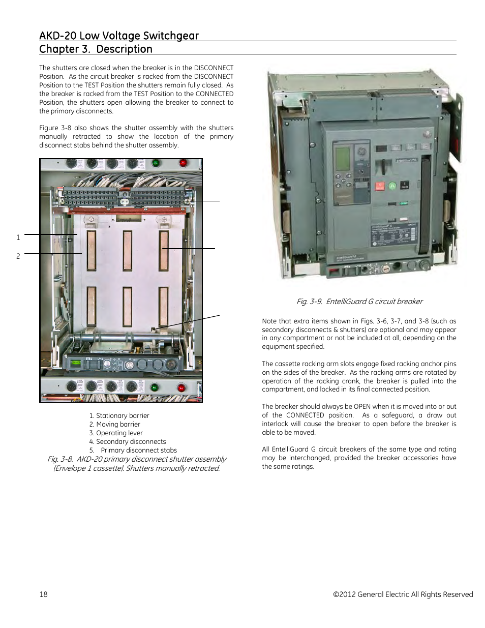 Ge Industrial Solutions Akd 20 Low Voltage Switchgear Manuel D Circuit Breakers In The Off Position Without Locking Out An Entire Dutilisation Page 18 69