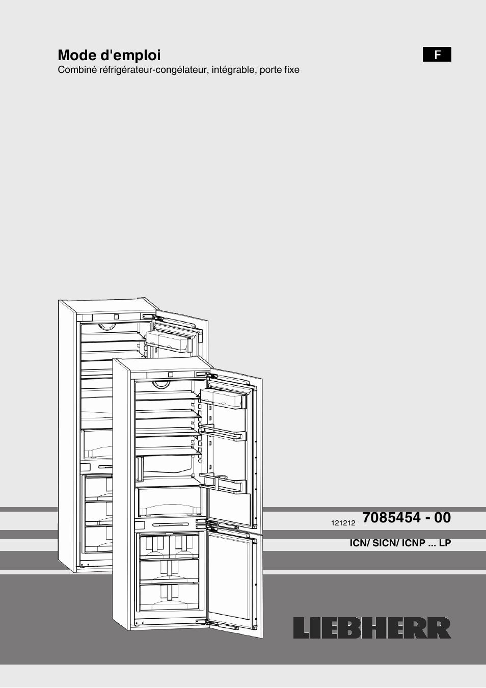 liebherr icn 3366 premium nofrost manuel d 39 utilisation pages 14. Black Bedroom Furniture Sets. Home Design Ideas