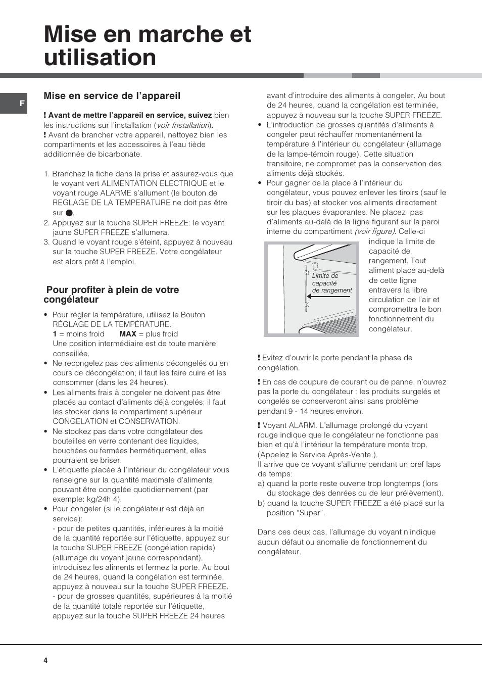 mise en marche et utilisation hotpoint ariston ups 1746 ha manuel d 39 utilisation page 4 8. Black Bedroom Furniture Sets. Home Design Ideas