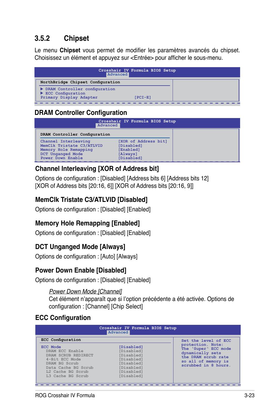 2 chipset, Dram controller configuration, Channel