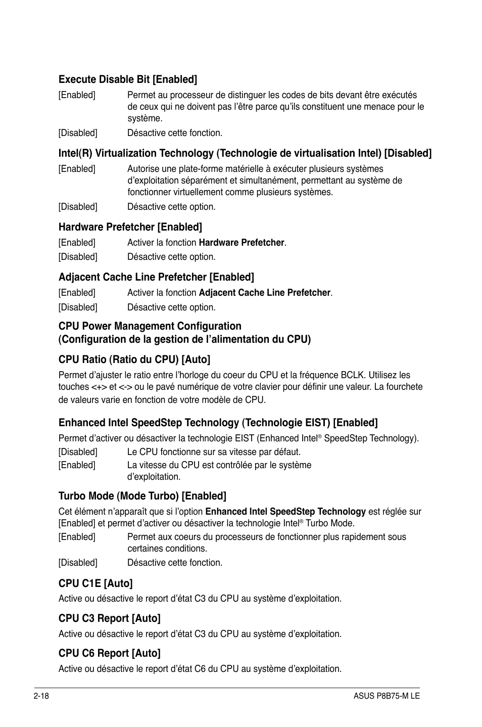 Asus P8B75-M LE Manuel d'utilisation | Page 60 / 80