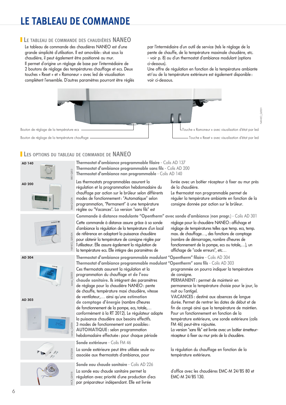 le tableau de commande le tableau de commande des chaudi res naneo les options du tableau de. Black Bedroom Furniture Sets. Home Design Ideas