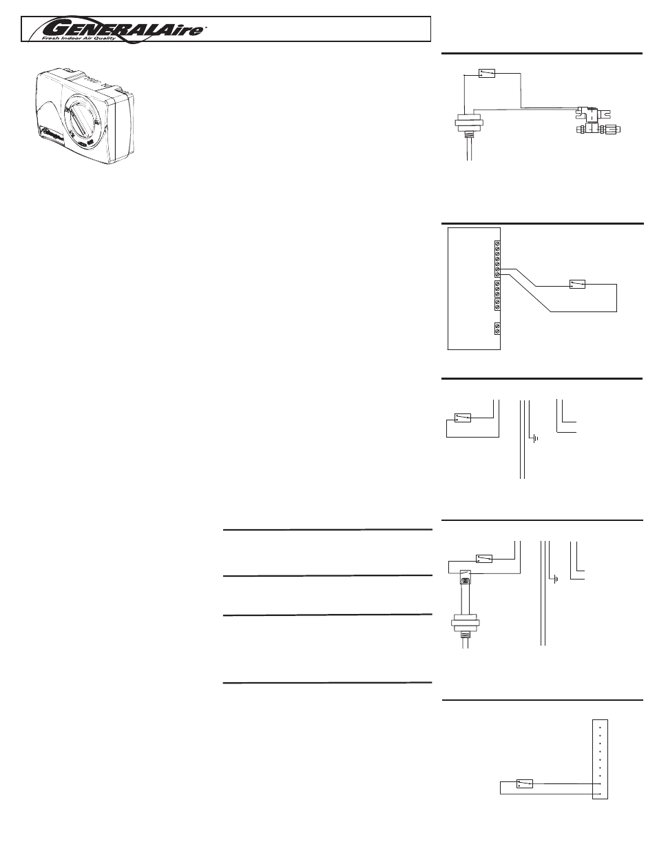 Generalaire Humidistat Wiring Diagram