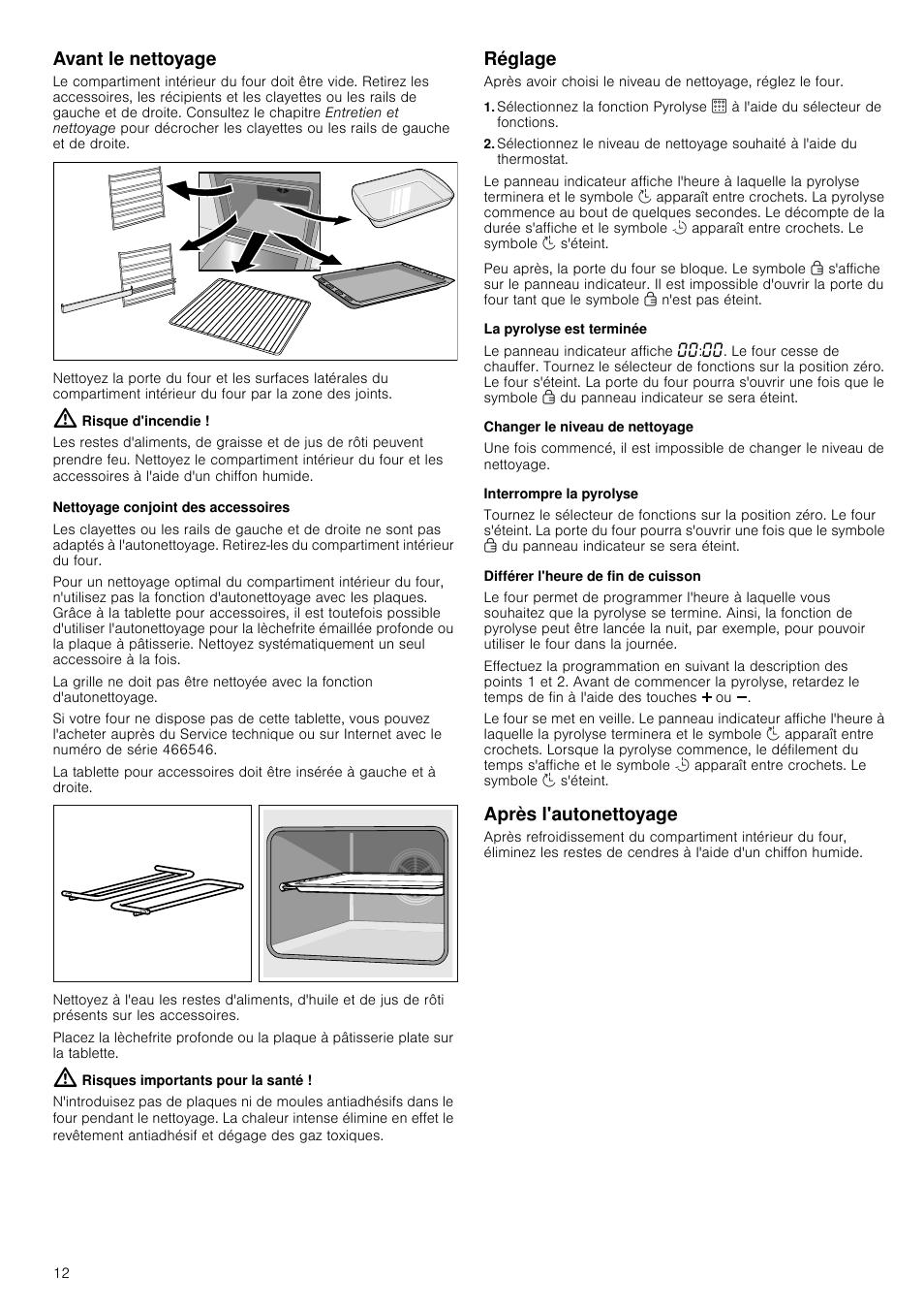 avant le nettoyage risque d 39 incendie nettoyage conjoint des accessoires bosch hba63b222f. Black Bedroom Furniture Sets. Home Design Ideas