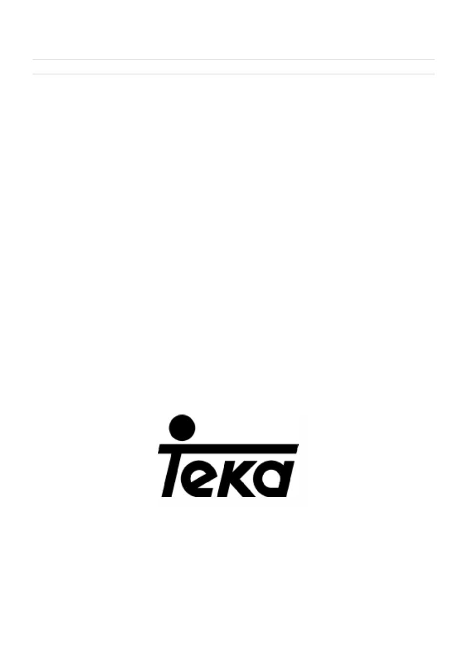 Teka Tm 620 Manuel D Utilisation Page 39 39