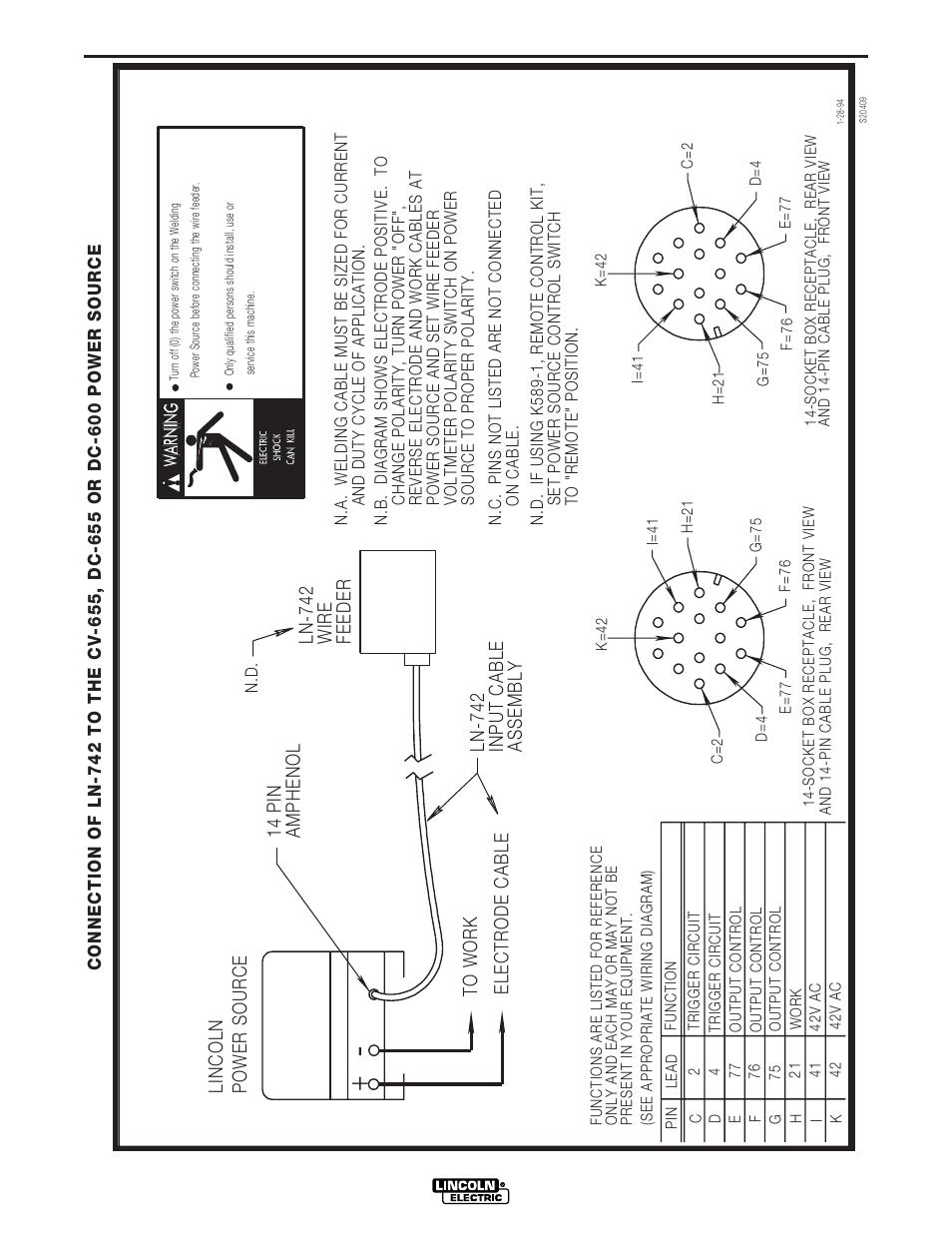 Schémas, Dc-600 | Lincoln Electric IM642 IDEALARC DC-600 Manuel  d'utilisation | Page 44 / 56