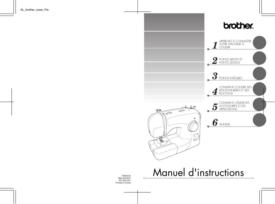 brother xl 2600i manuel d'utilisation   pages: 51   aussi pour: xl