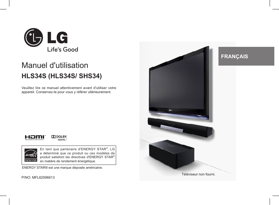 lg hls34s manuel d 39 utilisation pages 12. Black Bedroom Furniture Sets. Home Design Ideas