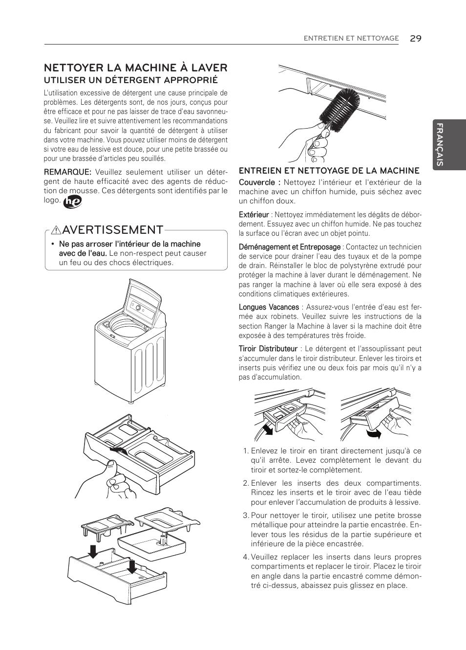 Nettoyer bac lessive machine a laver finest la lessive les jours de lessive commune duile de - Nettoyer joint machine a laver ...