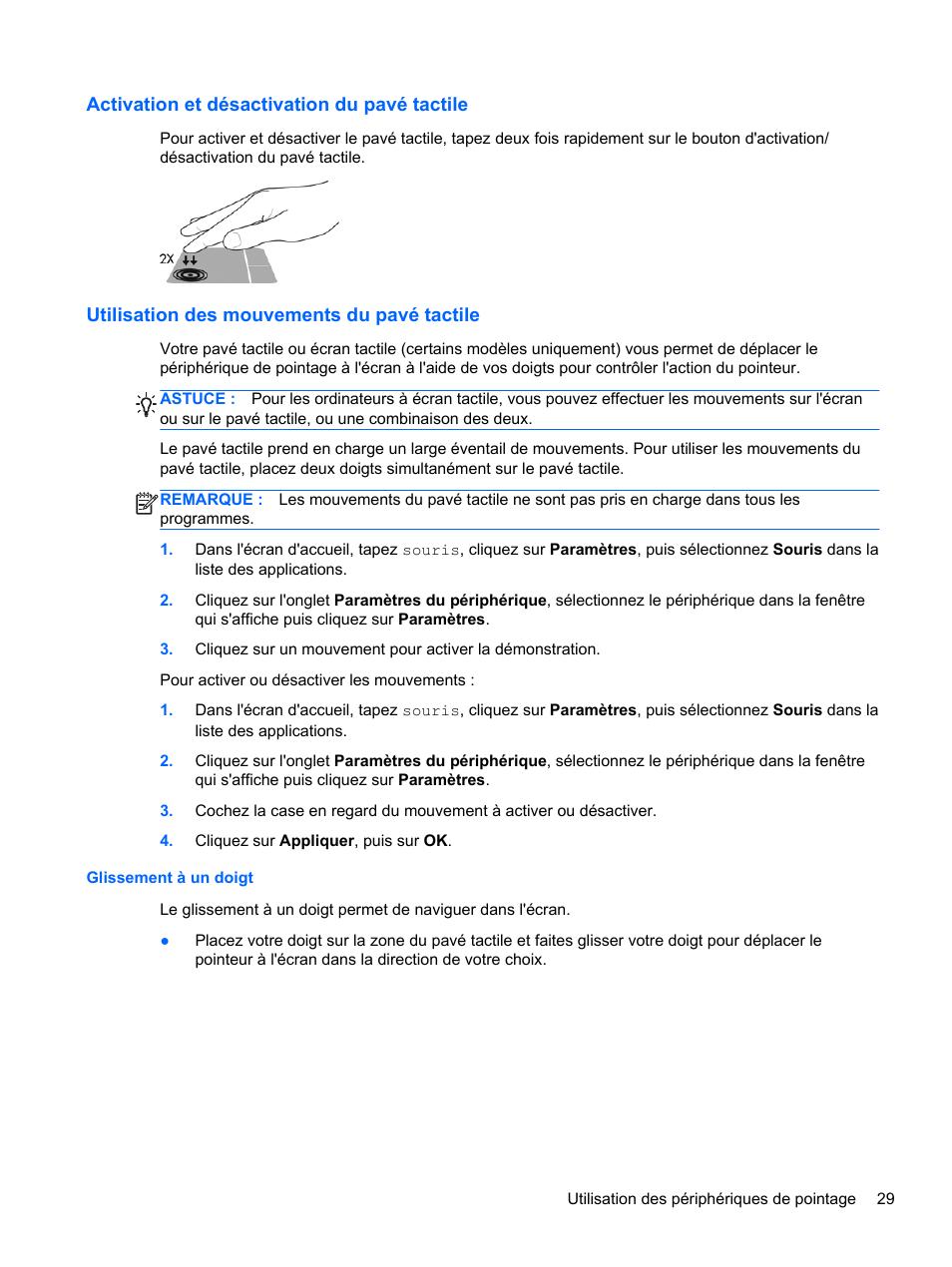 Exemples de souris et de claviers sans fil