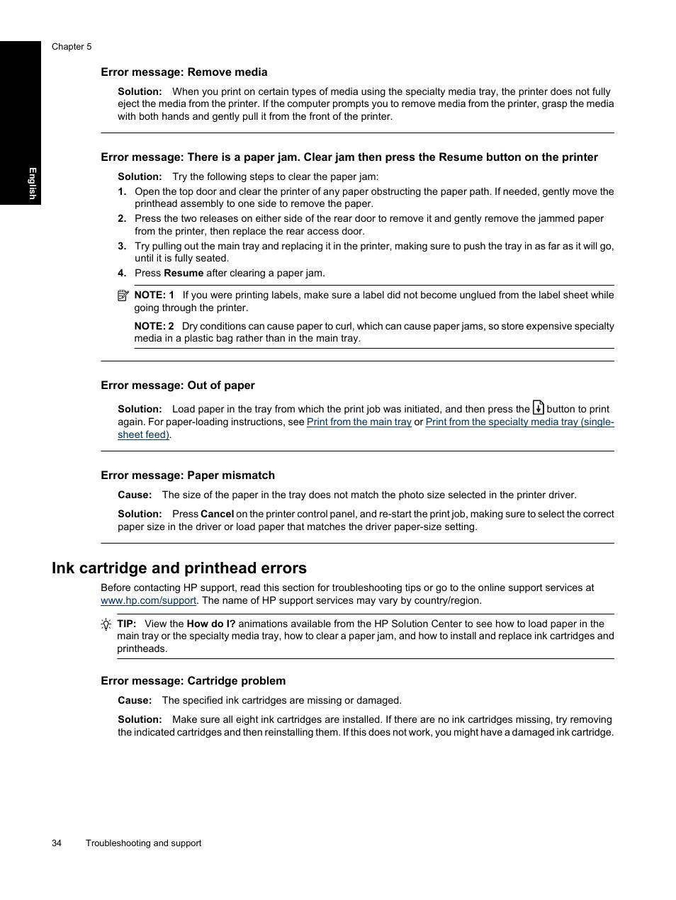 Paper Mismatch Error Galvinsdinnerhousestjoe Block Diagram Xeroxwc3045 Ink Cartridge And Printhead Errors Resume Button On The Printer Hp Photosmart Pro B8850