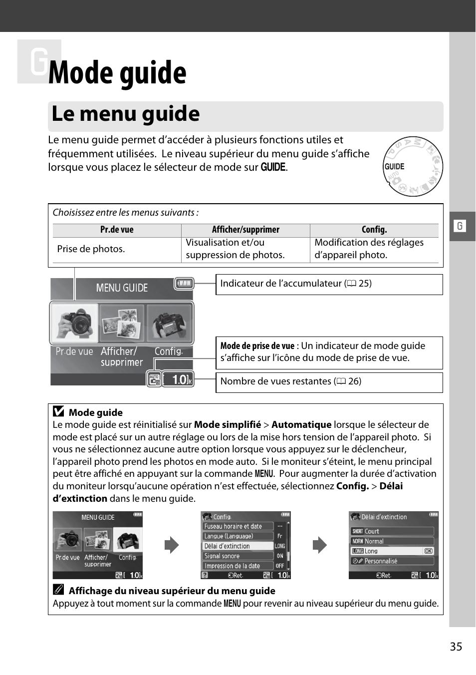 mode guide le menu guide nikon d3000 manuel d utilisation page rh modes d emploi com Nikon D3000 Sample Photos Nikon D3000 Sample Photos
