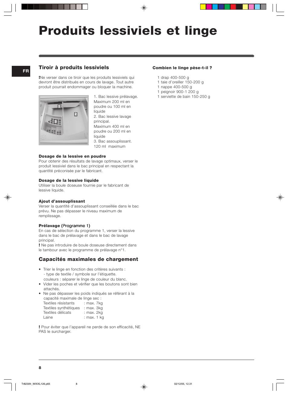 Super Produits lessiviels et linge, Tiroir à produits lessiviels  DX29