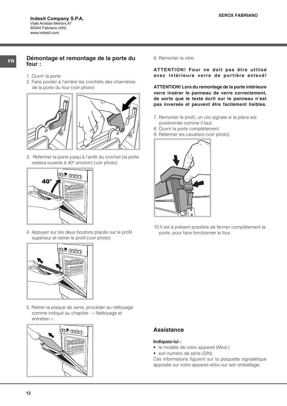 best dmontage et remontage de la porte du four assistance indesit ivcwfr manuel page with. Black Bedroom Furniture Sets. Home Design Ideas