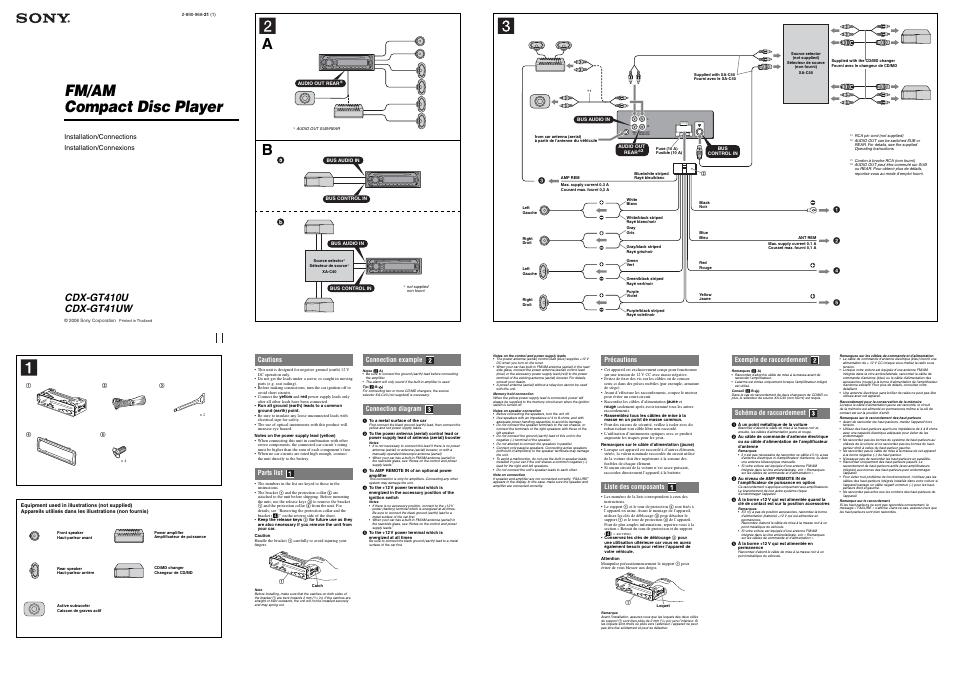Sony CDX-GT410U Manuel d'utilisation | Pages: 2 | Aussi pour ... on