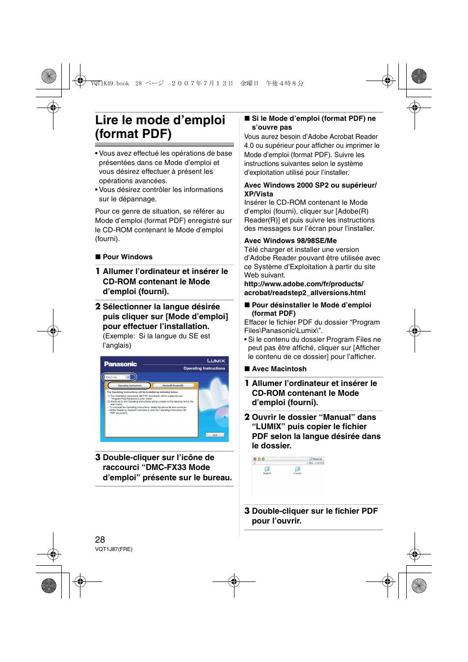 ouvrir format pdf