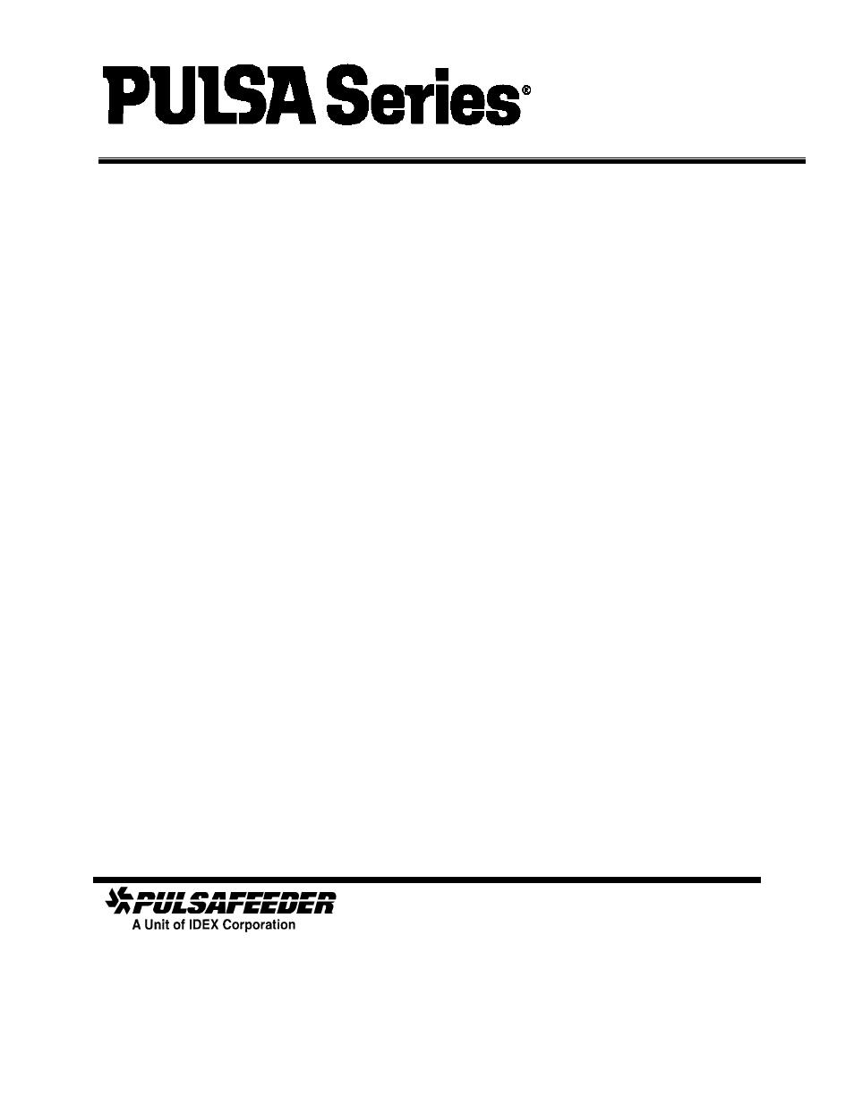 Pulsafeeder Pulsa Series 680 FR Manuel d'utilisation | Pages: 20