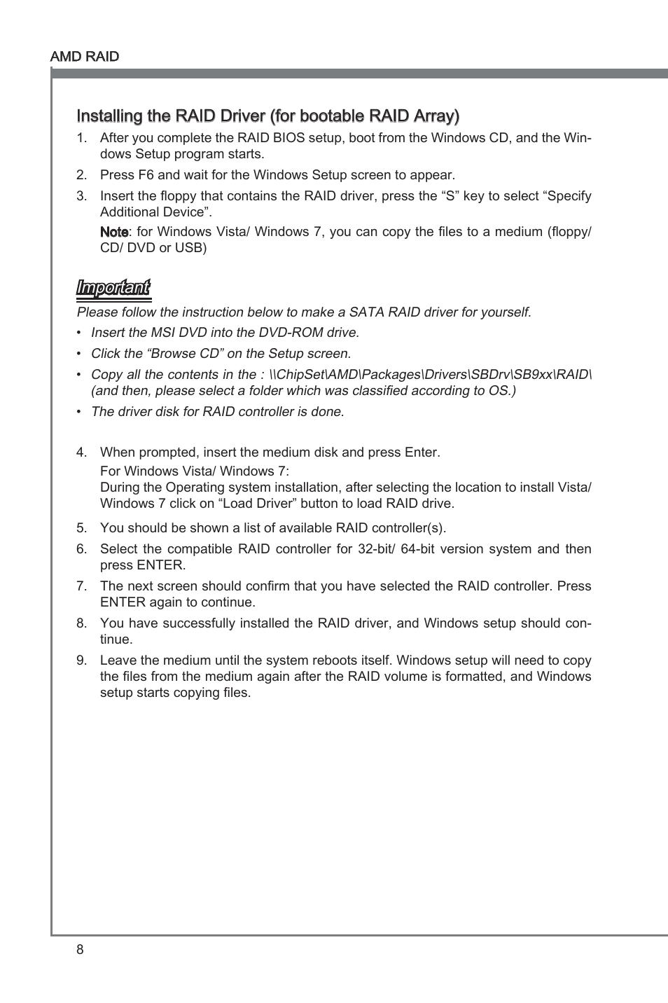 English, Important   MSI 760GM-P21 (FX) Manuel d'utilisation   Page