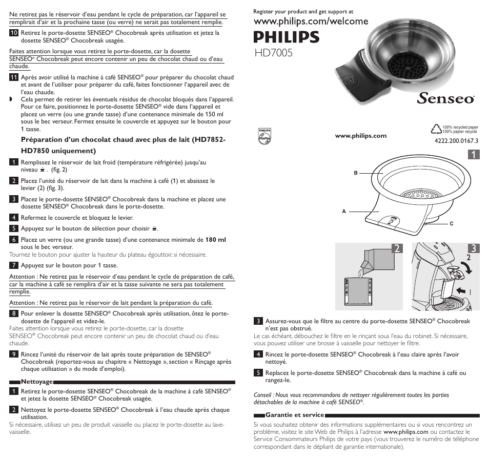 affordable price outlet on sale offer discounts Philips SENSEO® Support à dosette Manuel d'utilisation ...