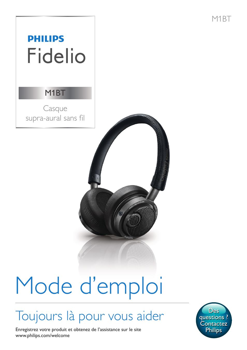 Philips Fidelio Casque Bluetooth Manuel Dutilisation Pages 16