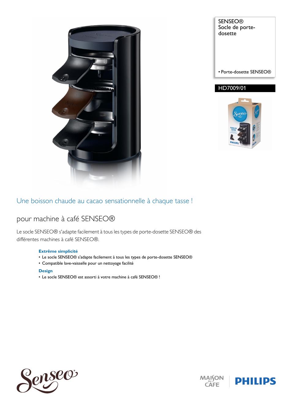 united states official photos limited guantity Philips SENSEO® Socle de porte-dosette Manuel d'utilisation ...