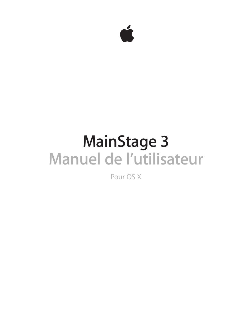 Apple One Manual Auto Electrical Wiring Diagram Clock Time Intermatic T103tc Mainstage 3 Manuel D U0026 39 Utilisation