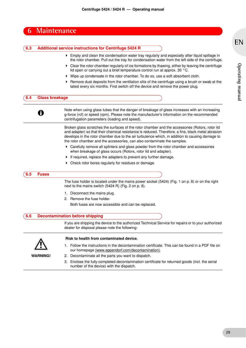 eppendorf centrifuge 5424 service manual