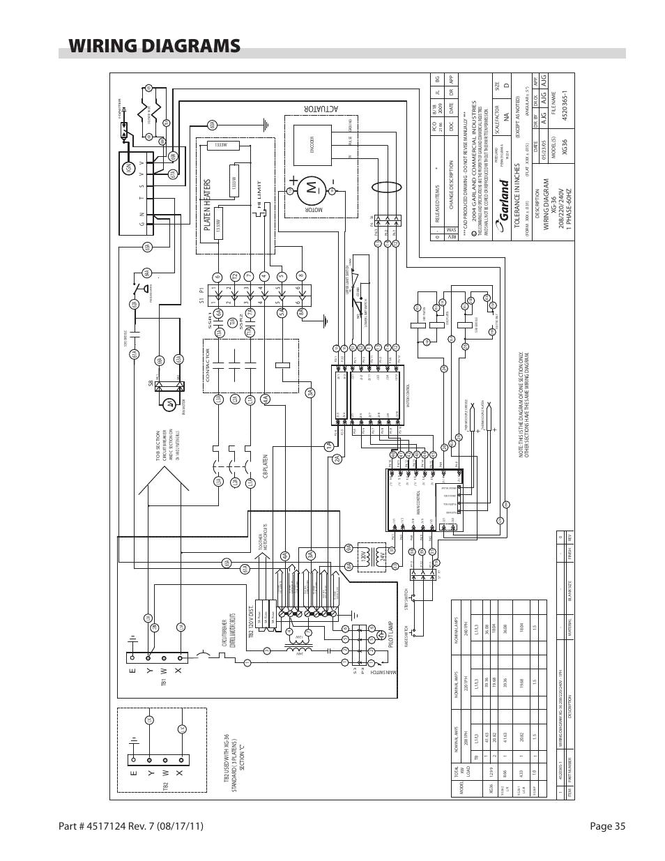 wiring diagrams actu ator pla ten hea ters garland xg36 gas rh modes d emploi com garland master 200 wiring diagram garland sdg-1 wiring diagram