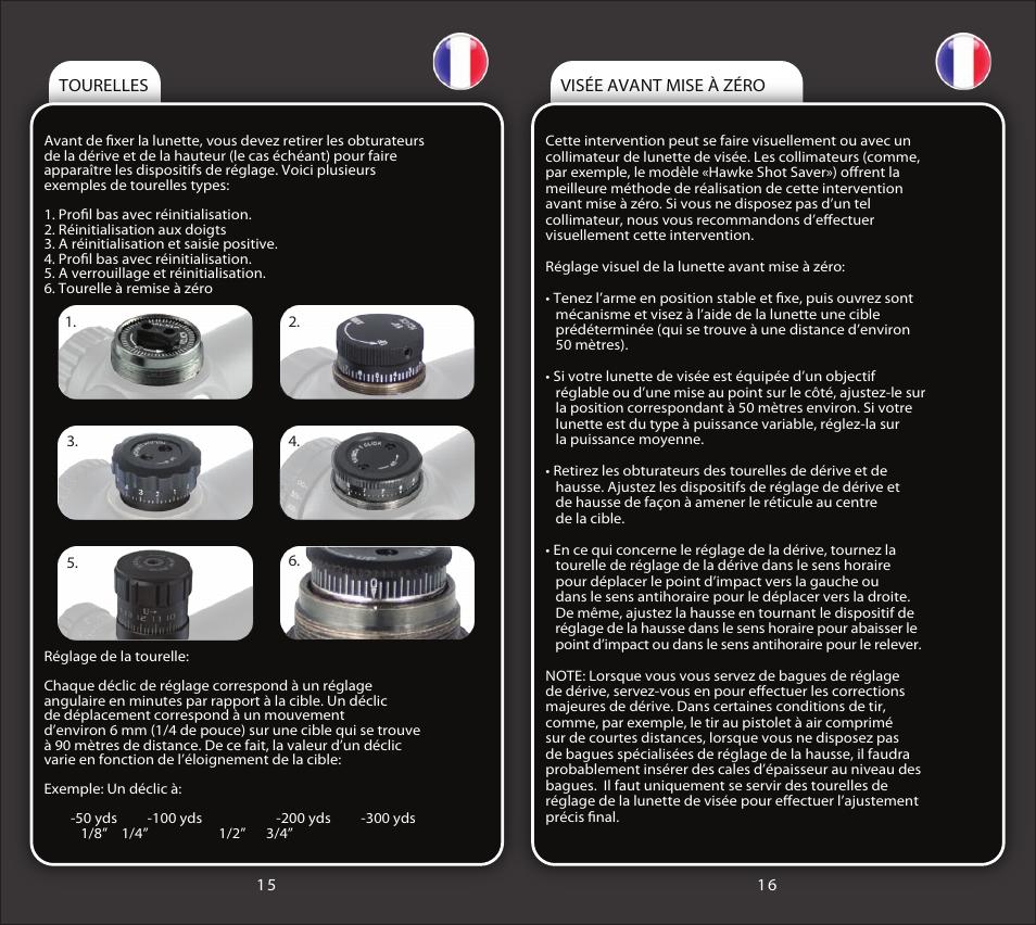 Riflescope manual french2   Hawke Optics Sport HD 4x40 Manuel d utilisation    Page 3   7 49ac5a1b8c46