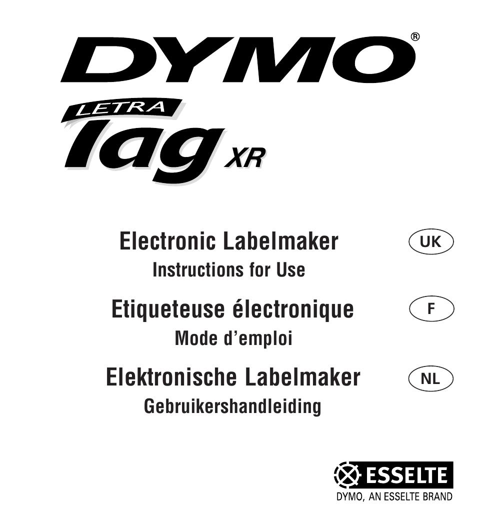 electronic labelmaker etiqueteuse lectronique elektronische labelmaker dymo letratag xr. Black Bedroom Furniture Sets. Home Design Ideas