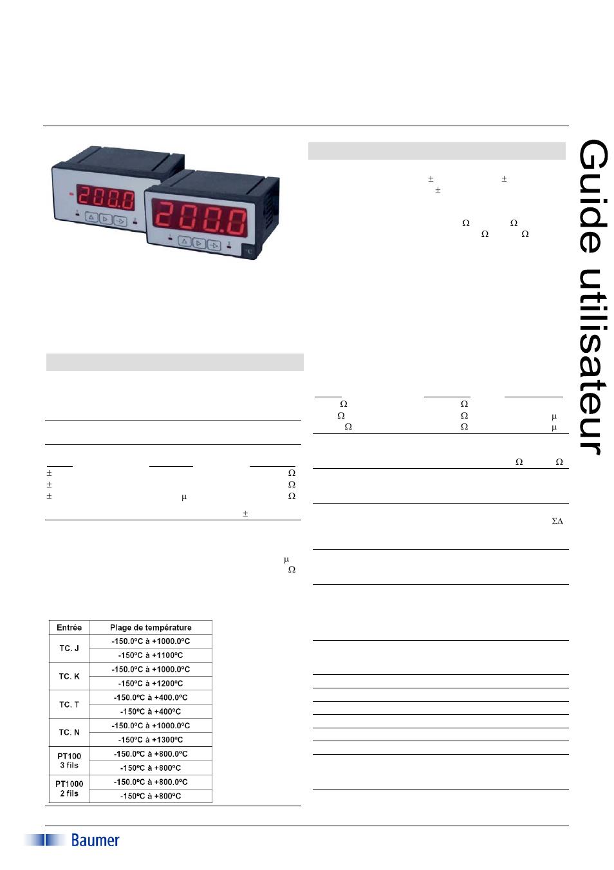 Baumer Pa408 Manuel D 39 Utilisation Pages 7