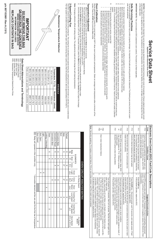 FRIGIDAIRE FGEW2765PW Manuel d'utilisation | Pages: 4 | Aussi pour