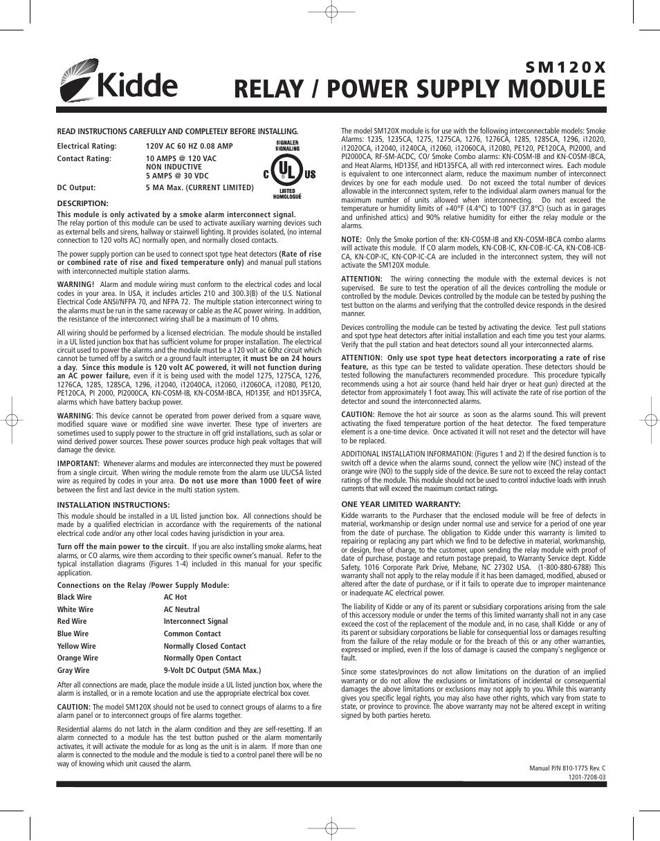 Kidde SM120X Manuel d\'utilisation | Pages: 4
