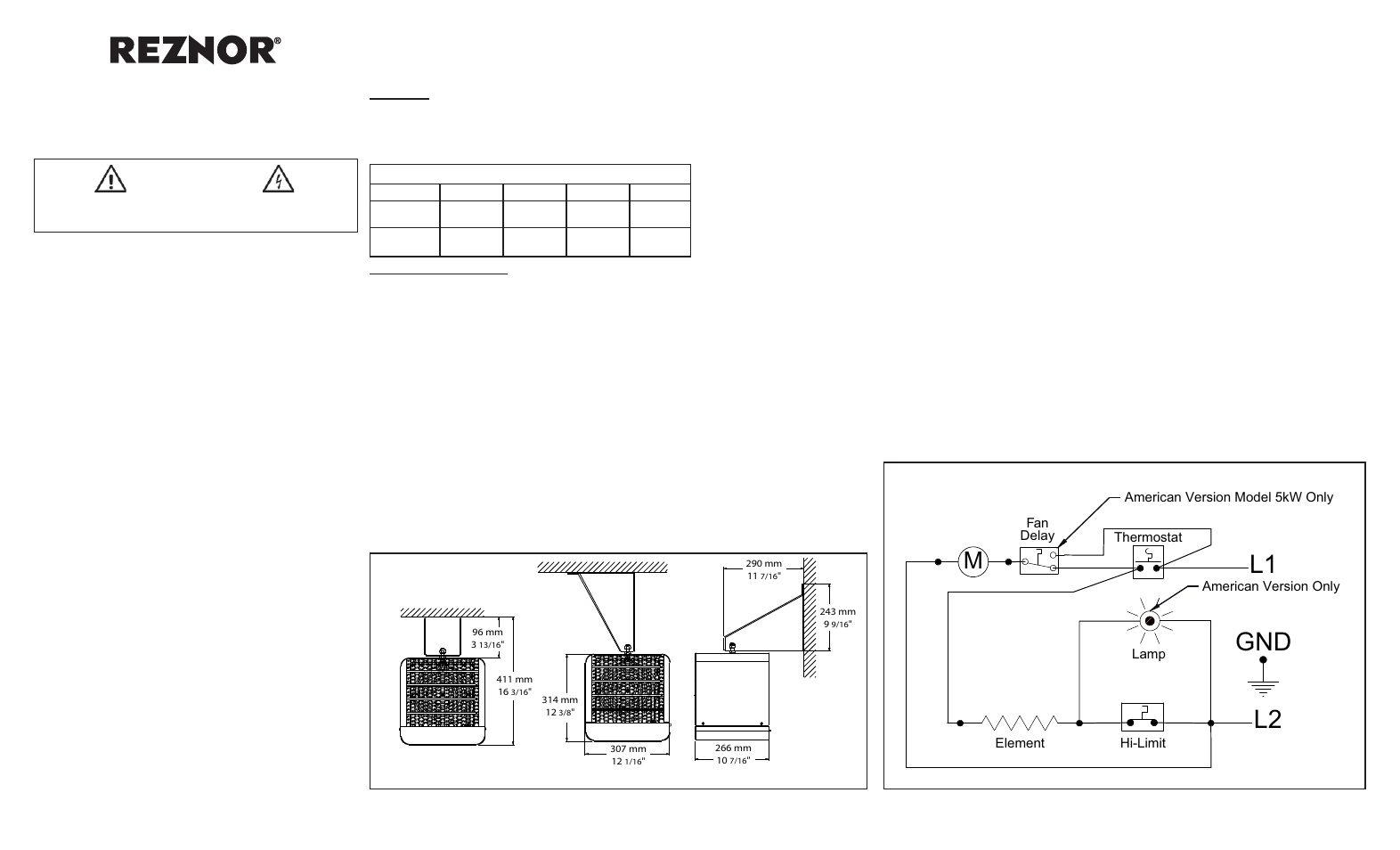 reznor egw unit installation manual page1 reznor egw unit installation manual manuel d'utilisation pages 2 Reznor F100 Wiring Diagram at crackthecode.co