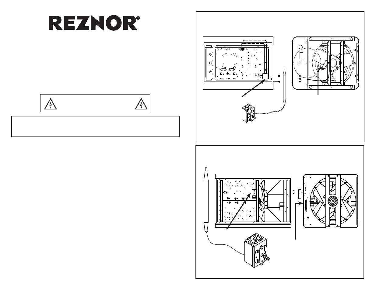 reznor eghb option - installation - thermostat kit manuel ... honeywell heat pump thermostat wiring diagram capillary thermostat wiring diagram