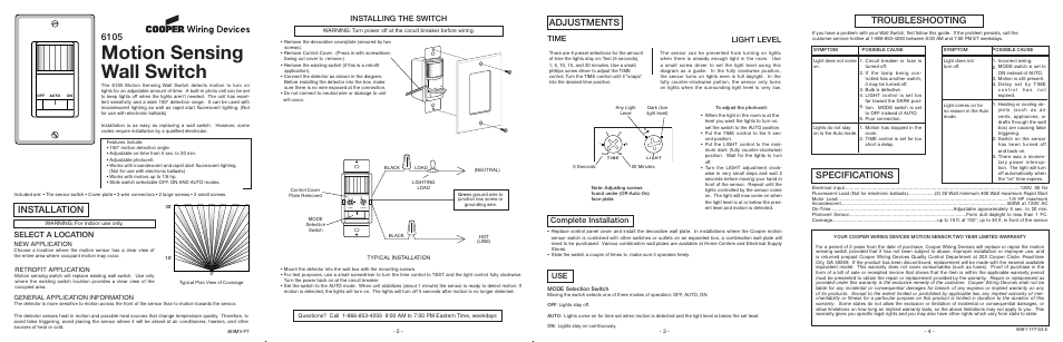 Cooper Wiring Devices 6105 Manual - Ver Wiring Diagram