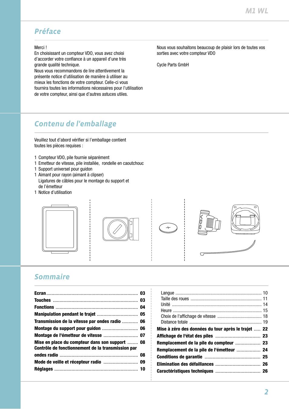 2m1 wl pr face contenu de l 39 emballage sommaire vdo m1wl manuel d 39 ut - Compteur linky mode d emploi ...