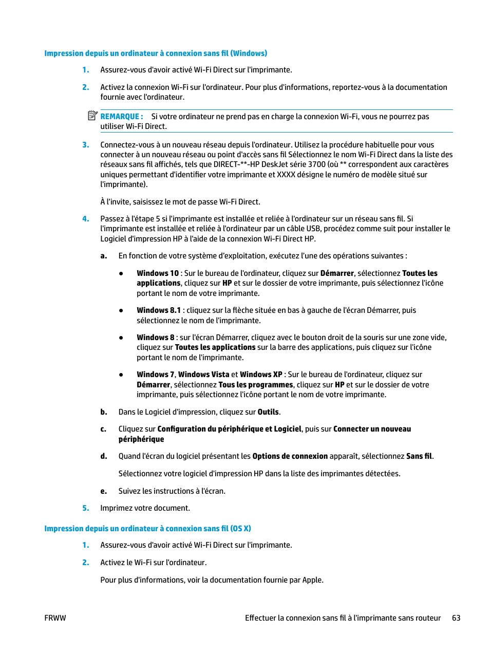 HP DeskJet 3700 Manuel d'utilisation | Page 67 / 122