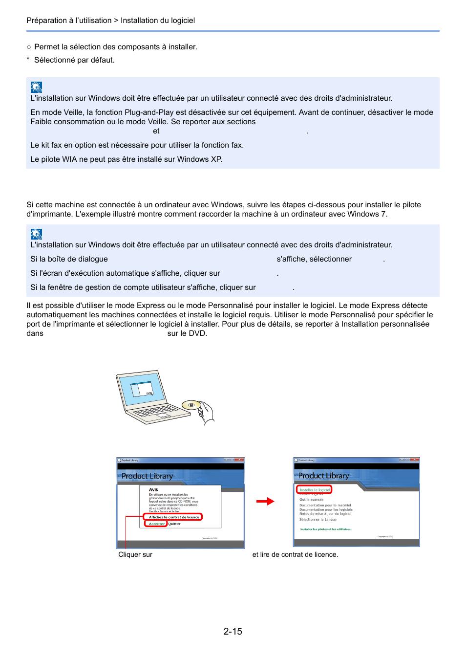 Installation du pilote d'imprimante sous windows | TA